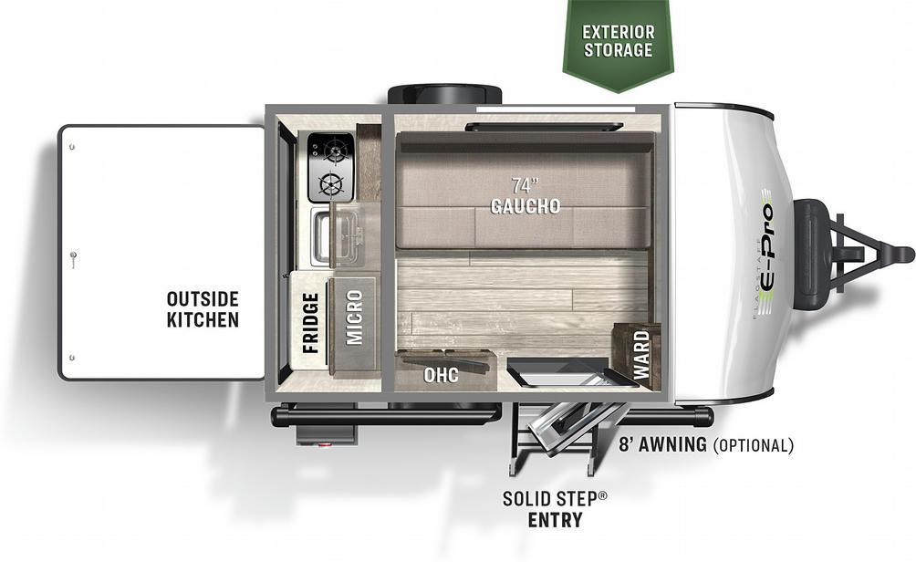 Flagstaff E-Pro 12SRK Floor Plan - 2021