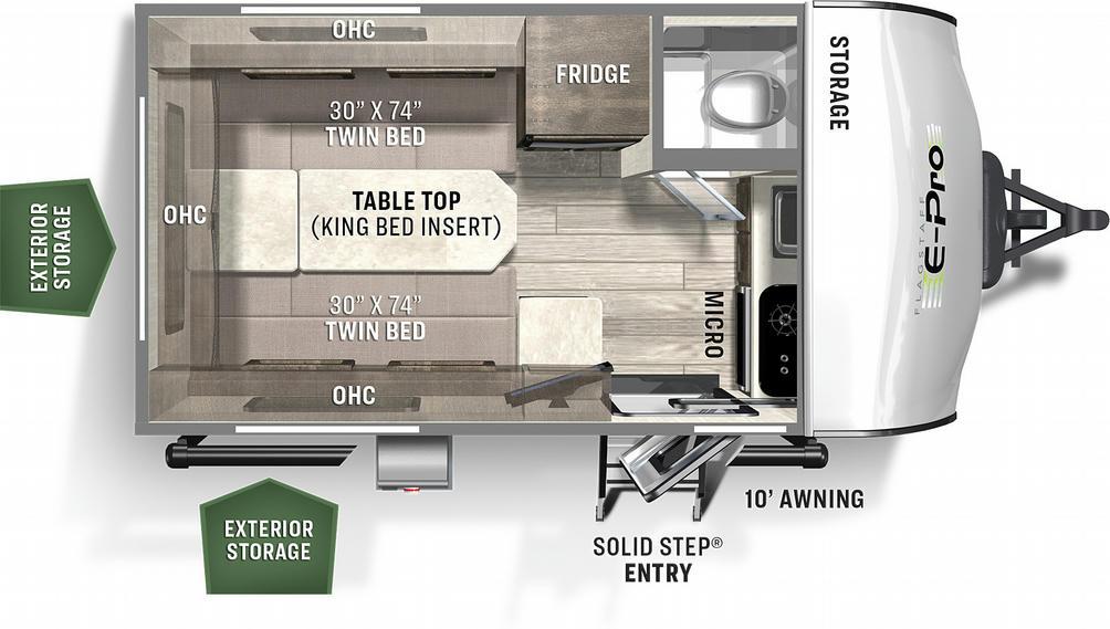 Flagstaff E-Pro 15TB Floor Plan - 2021