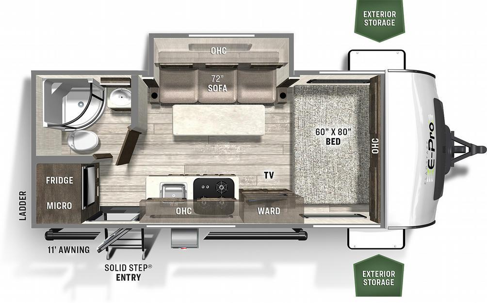 Flagstaff E-Pro 19FBS Floor Plan - 2021
