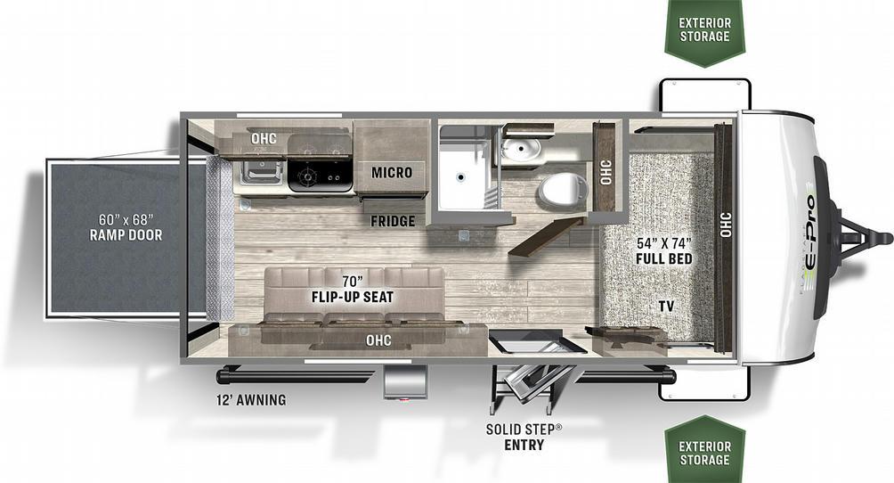 Flagstaff E-Pro 19FBTH Floor Plan - 2021