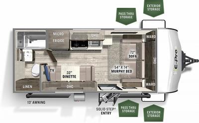 2021 Flagstaff E-Pro 19FD - FL6399