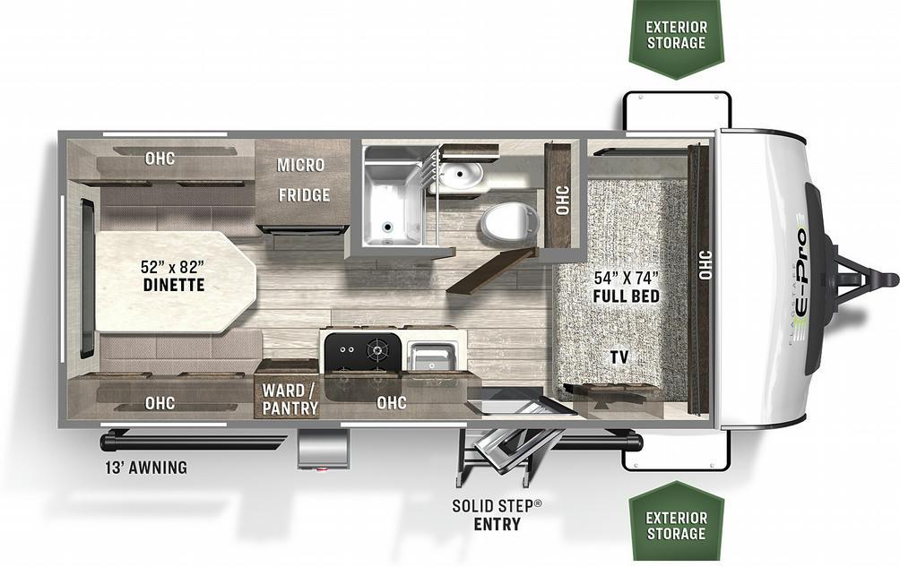Flagstaff E-Pro 19RD Floor Plan - 2021