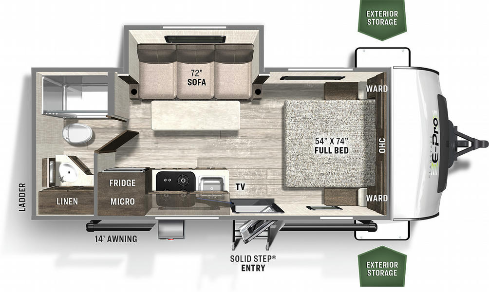 Flagstaff E-Pro 20FBS Floor Plan - 2021