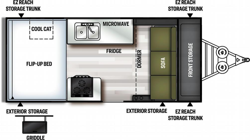 Flagstaff Hard Side 21FSHW Floor Plan - 2021