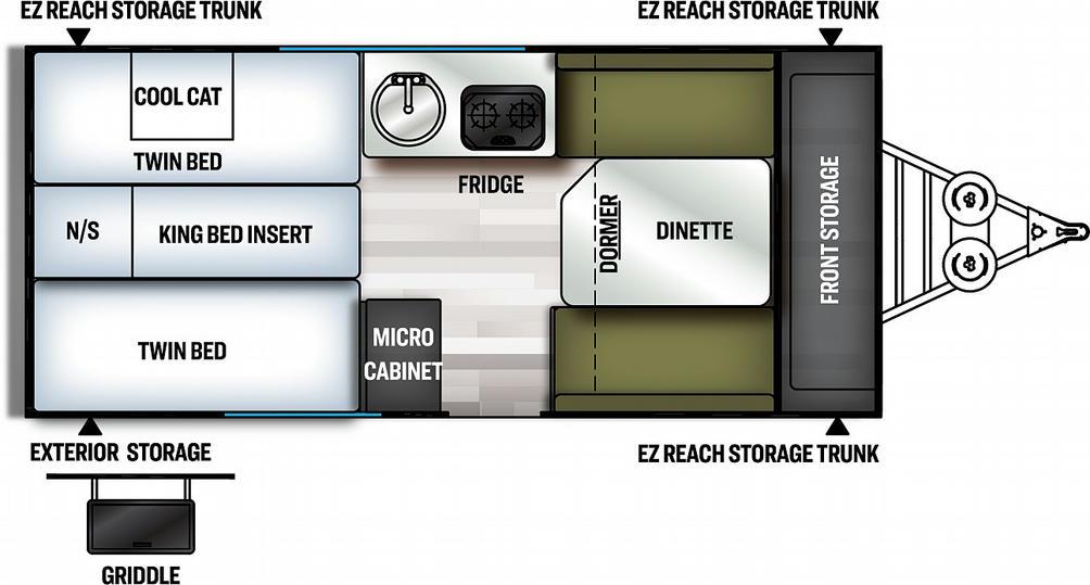 Flagstaff Hard Side 21TBHWOR Floor Plan - 2021