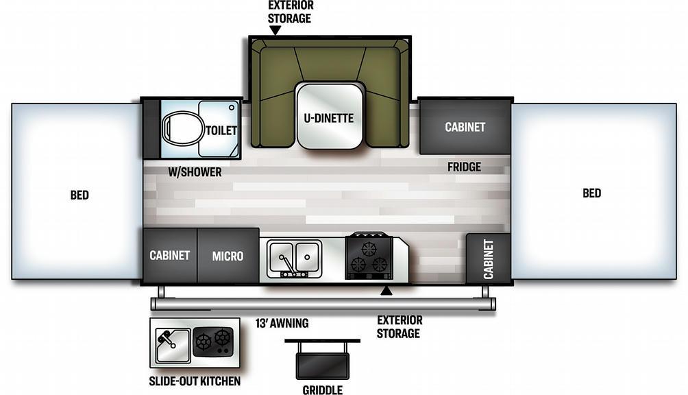 Flagstaff High Wall HW27KS Floor Plan - 2021