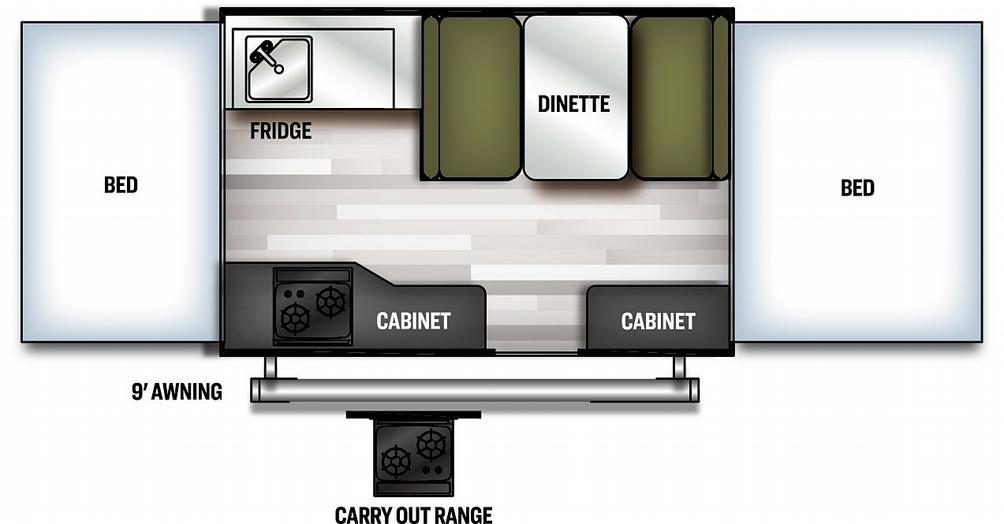 Flagstaff MAC 206LTD Floor Plan - 2021