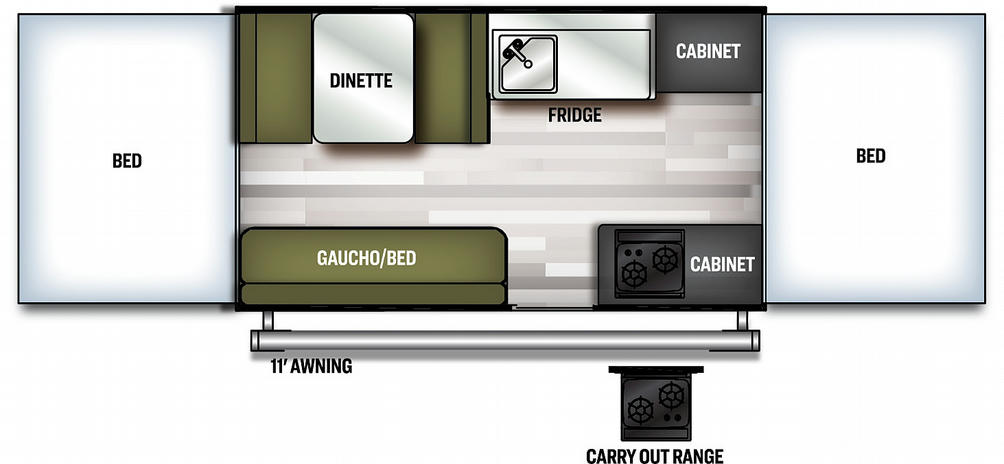 Flagstaff MAC 228LTD Floor Plan - 2021
