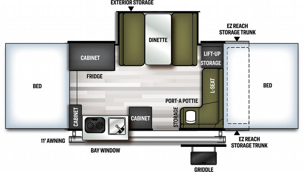 Flagstaff MAC 425M Floor Plan - 2021
