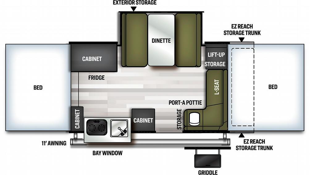 Flagstaff MAC 425M Floor Plan - 2021