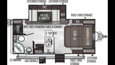 2020 Flagstaff Micro Lite 21DS - 434633