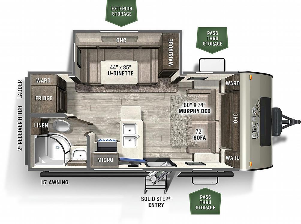 Flagstaff Micro Lite 21DS Floor Plan - 2021
