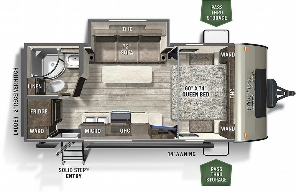 Flagstaff Micro Lite 21FBRS Floor Plan - 2021