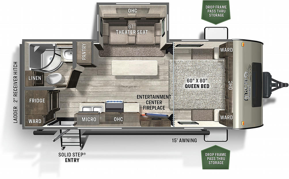 Flagstaff Micro Lite 22FBS Floor Plan - 2021