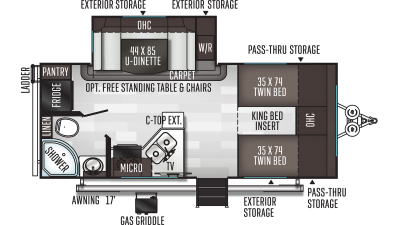 2020 Flagstaff Micro Lite 22TBS - 435788