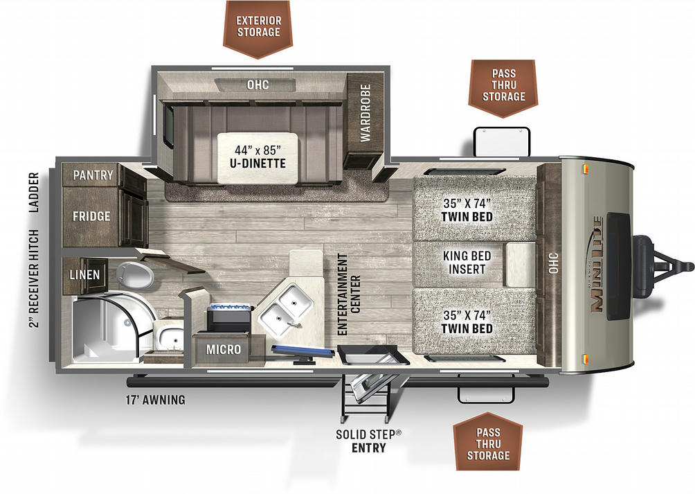Flagstaff Micro Lite 22TBS Floor Plan - 2021