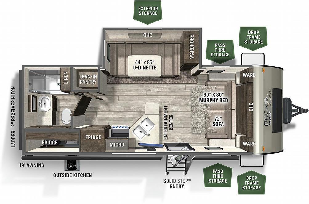Flagstaff Micro Lite 25BDS Floor Plan - 2021