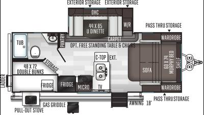 2020 Flagstaff Micro Lite 25BRDS - 431785