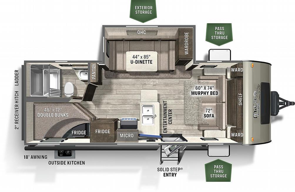 Flagstaff Micro Lite 25BRDS Floor Plan - 2021