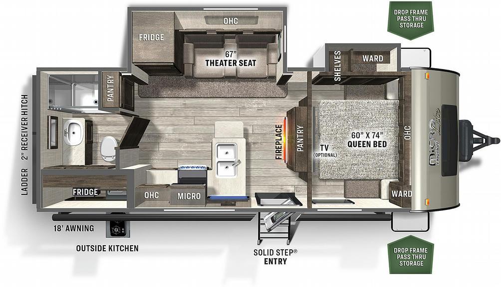 Flagstaff Micro Lite 25BSDS Floor Plan - 2021