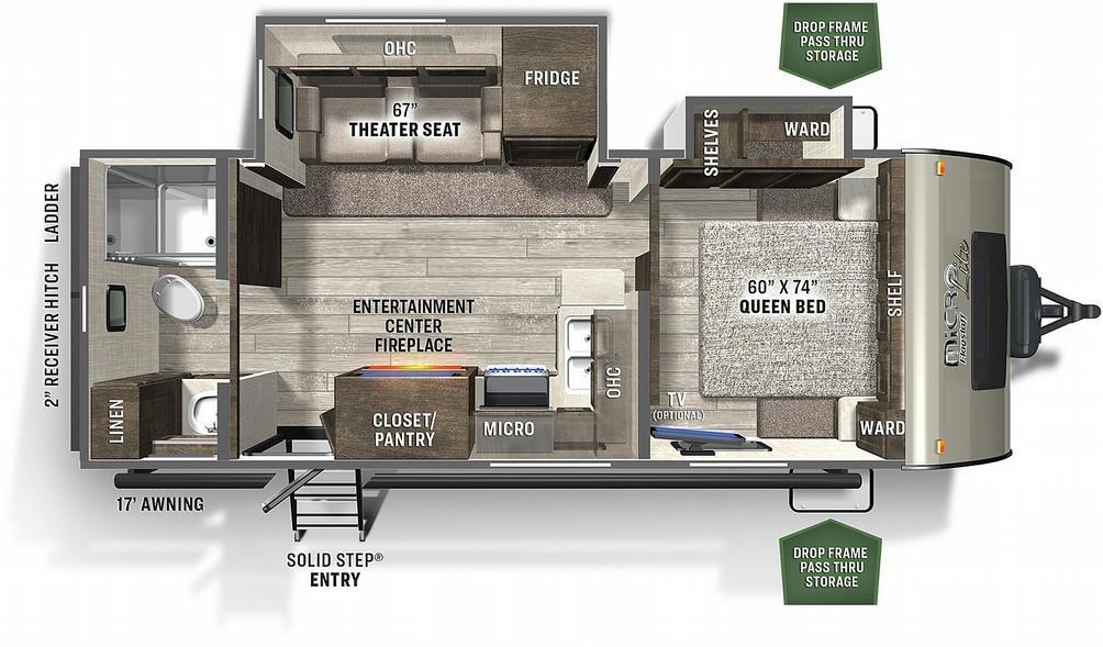 Flagstaff Micro Lite 25FBLS Floor Plan - 2021