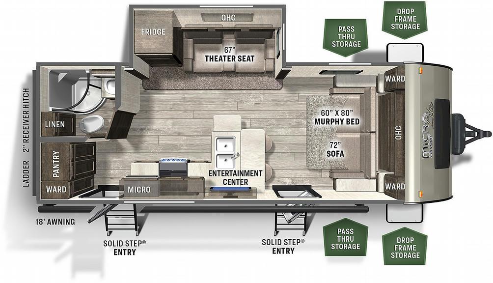 Flagstaff Micro Lite 25FBS Floor Plan - 2021