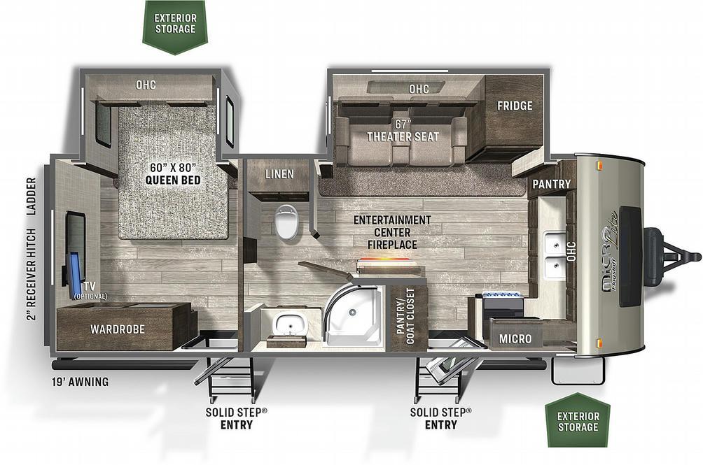 Flagstaff Micro Lite 25FKBS Floor Plan - 2021