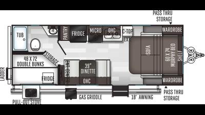 2020 Flagstaff Micro Lite 25LB - 435194