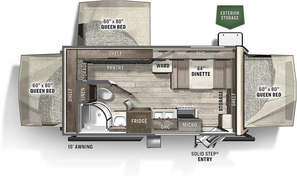 Flagstaff Shamrock 183 Floor Plan - 2021