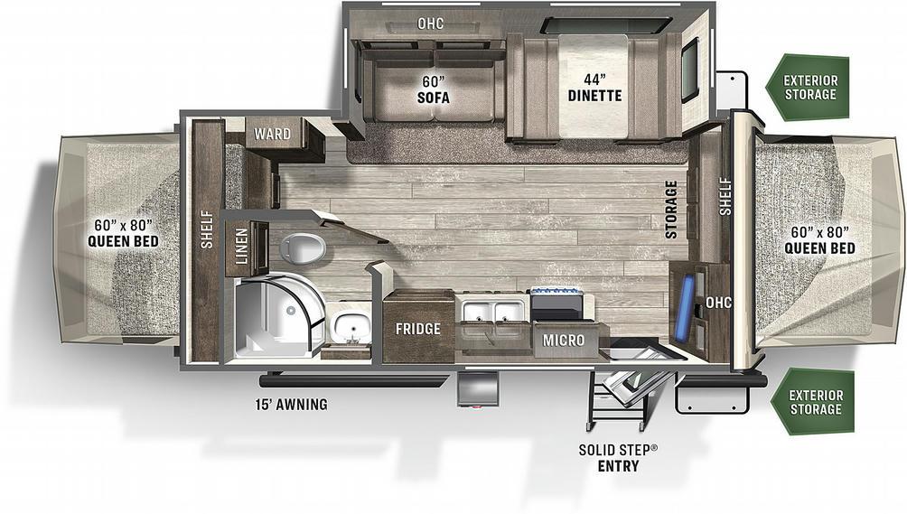 Flagstaff Shamrock 21SS Floor Plan - 2021
