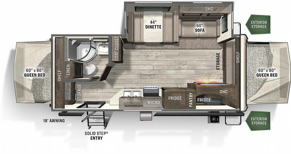 Flagstaff Shamrock 235S Floor Plan - 2021