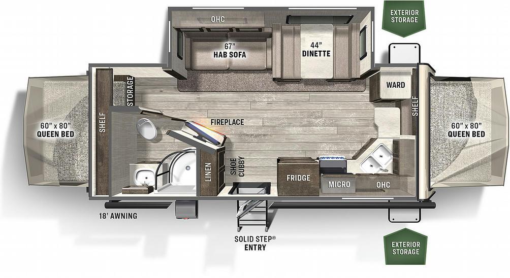 Flagstaff Shamrock 23FK Floor Plan - 2021