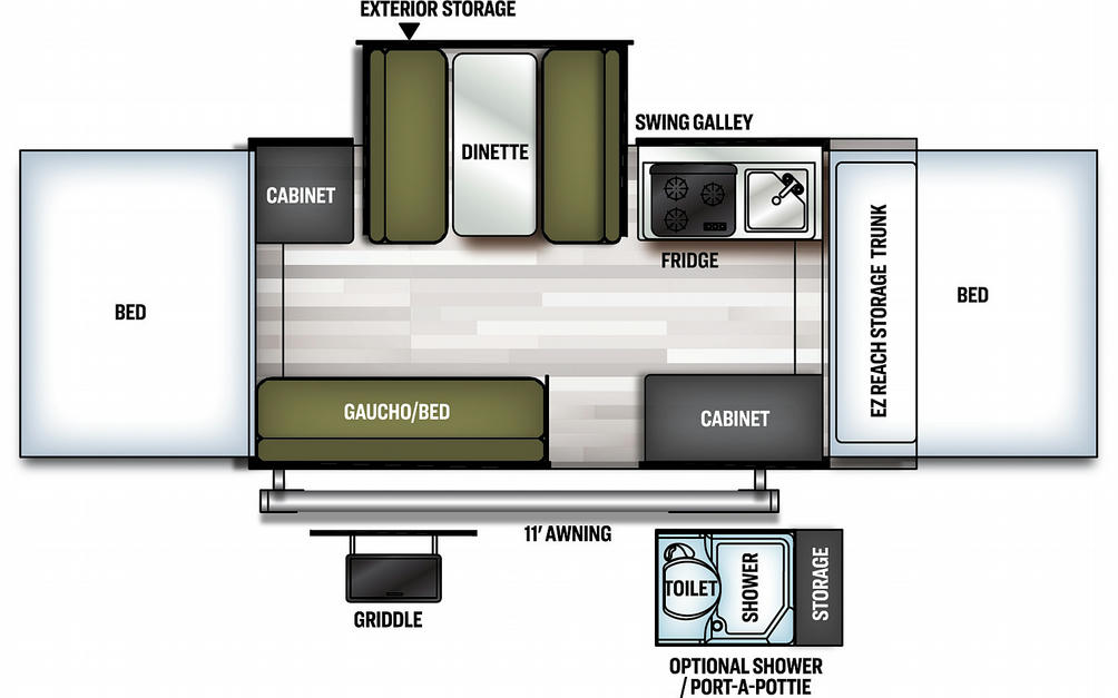 Flagstaff Sports Enthusiast 228SE Floor Plan - 2021