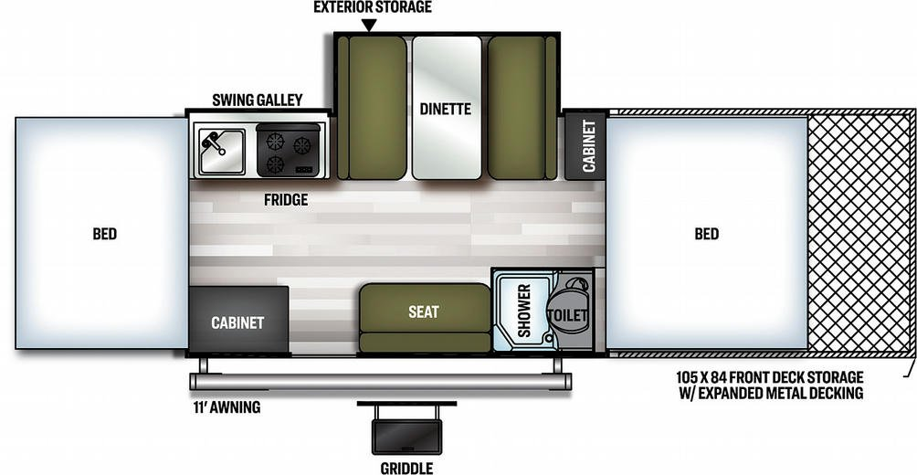 Flagstaff Sports Enthusiast 28TSCSE Floor Plan - 2021