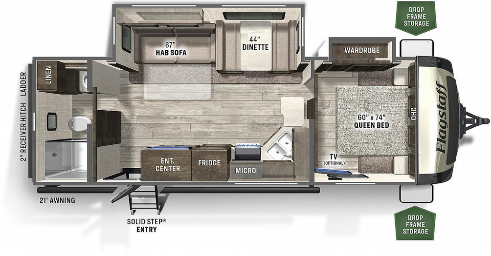 Flagstaff Super Lite 26RBWS Floor Plan - 2021