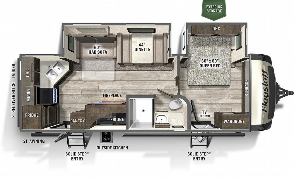Flagstaff Super Lite 26RKBS Floor Plan - 2021