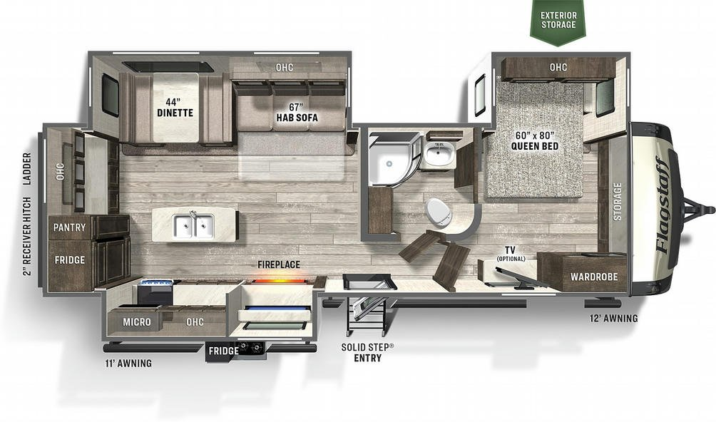 Flagstaff Super Lite 27FBIK Floor Plan - 2021
