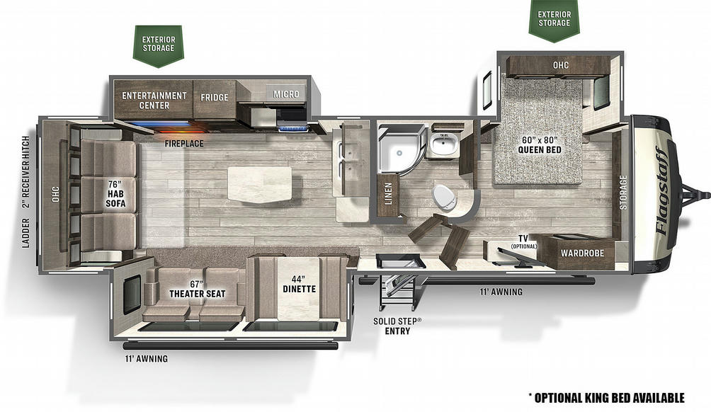 Flagstaff Super Lite 29RLBS Floor Plan - 2021