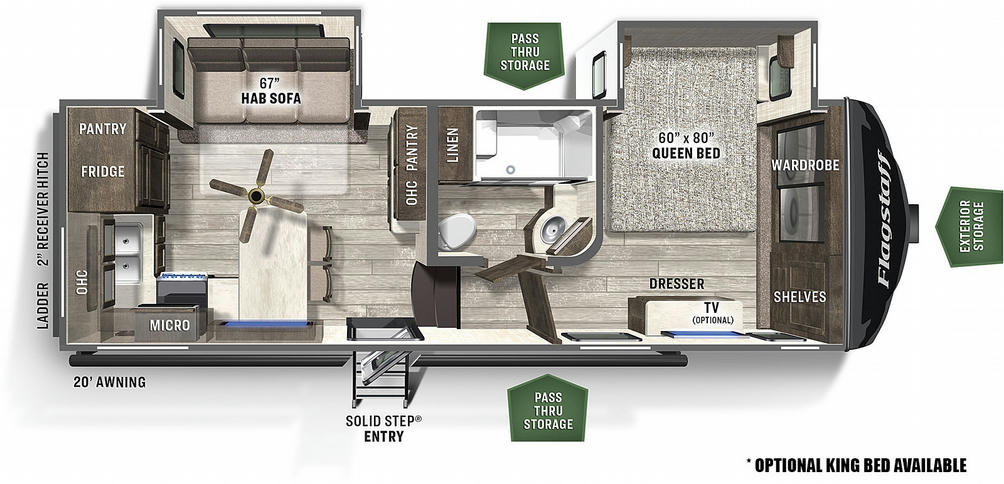 Flagstaff Super Lite 524BBS Floor Plan - 2021