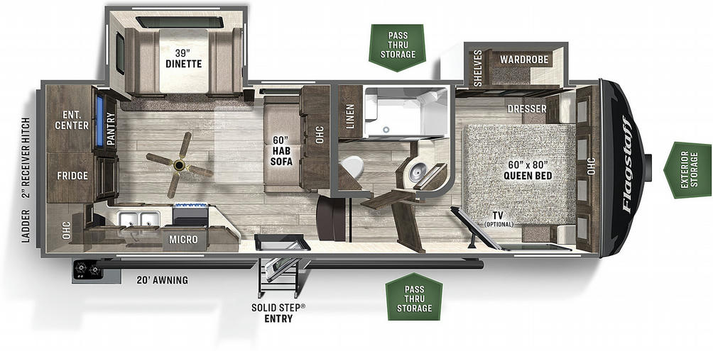 Flagstaff Super Lite 524EWS Floor Plan - 2021