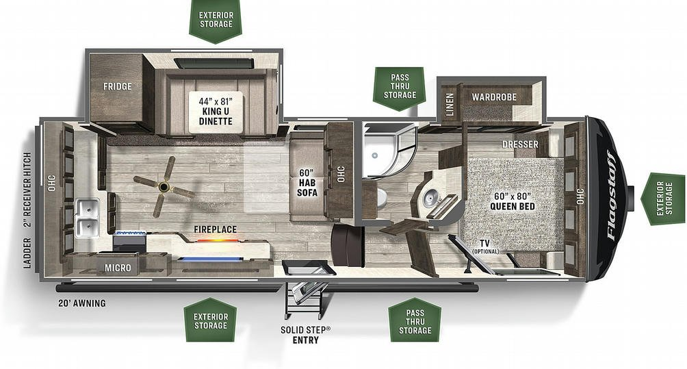 Flagstaff Super Lite 526RK Floor Plan - 2021