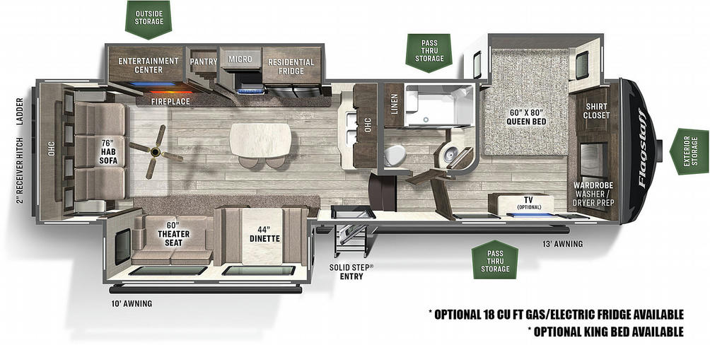 Flagstaff Super Lite 528IKRL Floor Plan - 2021