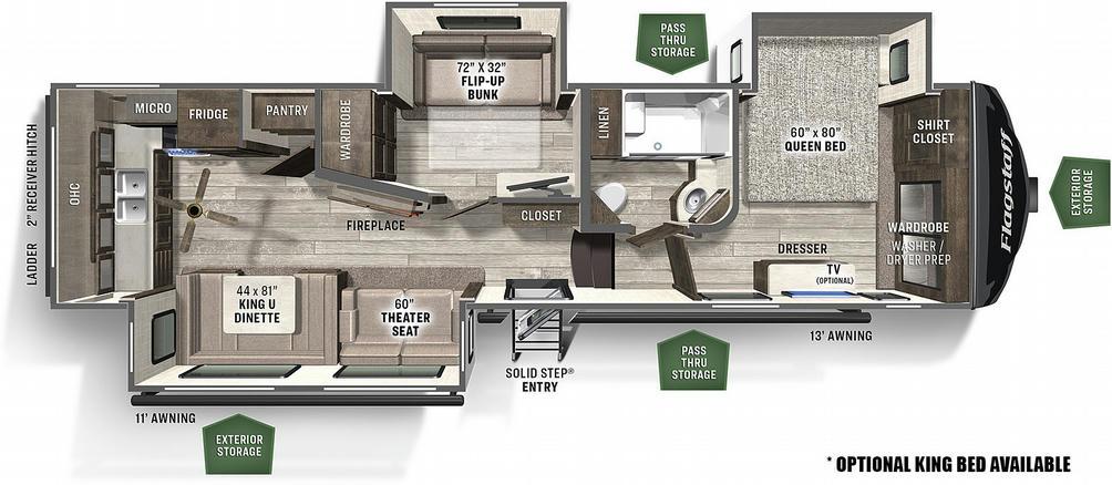 Flagstaff Super Lite 528MBS Floor Plan - 2021