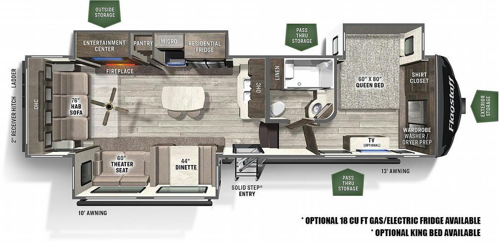 Flagstaff Super Lite 529IKRL Floor Plan - 2021