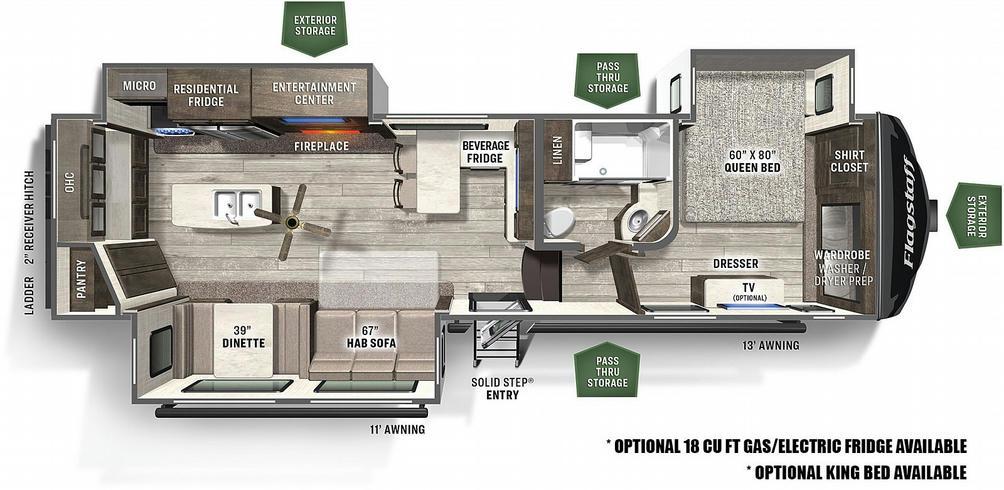 Flagstaff Super Lite 529RKB Floor Plan - 2021