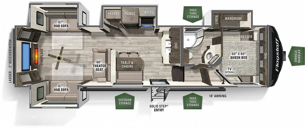 Flagstaff Super Lite 529RLKS Floor Plan - 2021