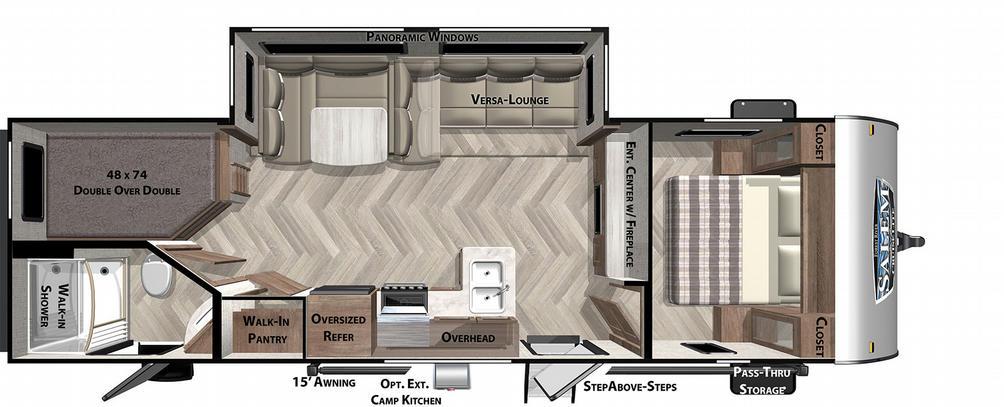 Salem Cruise Lite 263BHXL Floor Plan - 2021