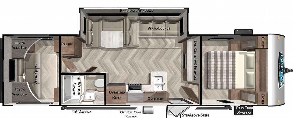 Salem Cruise Lite 28VBXL Floor Plan - 2021