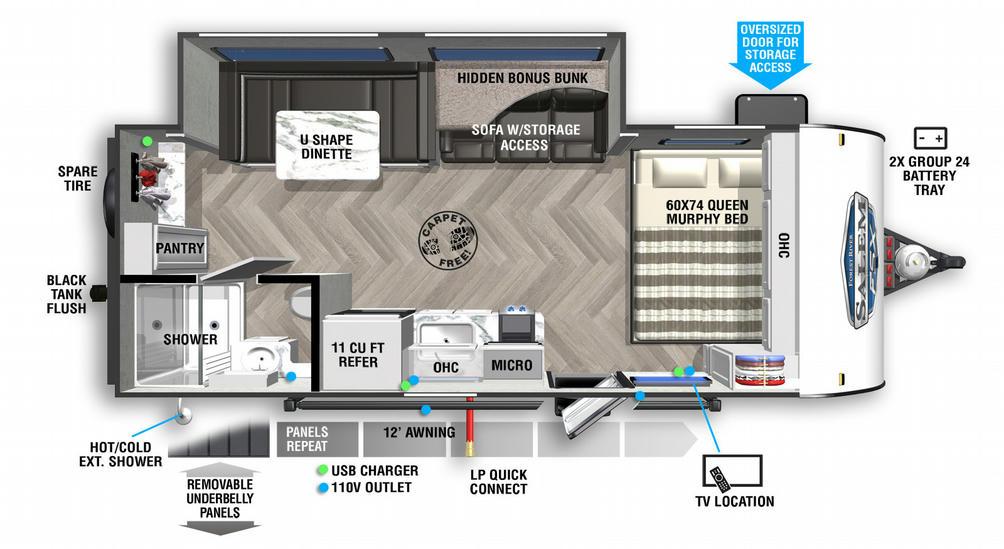 Salem FSX 170SSX Floor Plan - 2021
