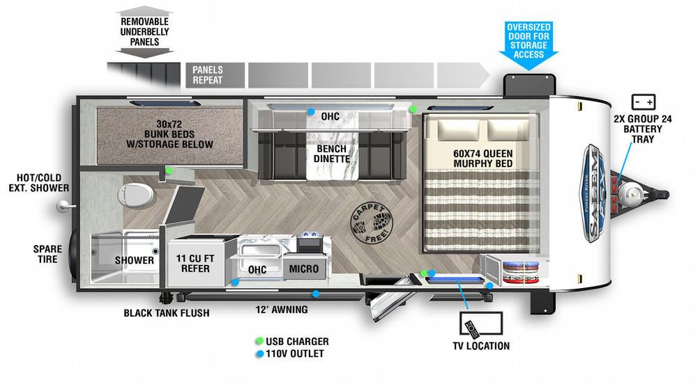 Salem FSX 177BHX Floor Plan - 2021